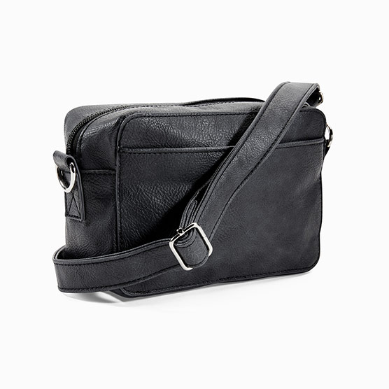 Boutique Crossbody - Black Distressed Pebble