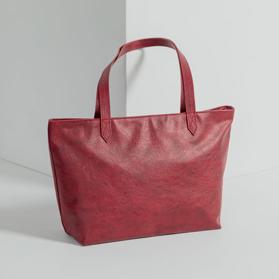 City Scene Bag - Ruby Distressed Pebble