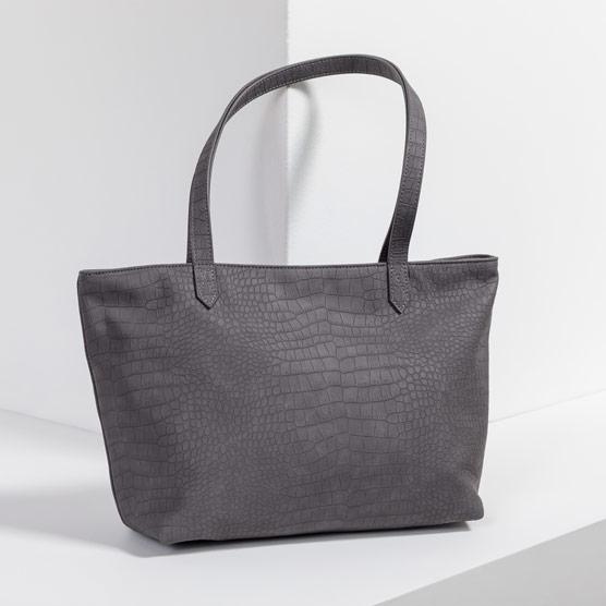 City Scene Bag - Grey Crocodile