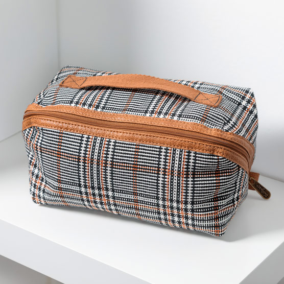 Expanding Travel Case - Plaid About You Weave
