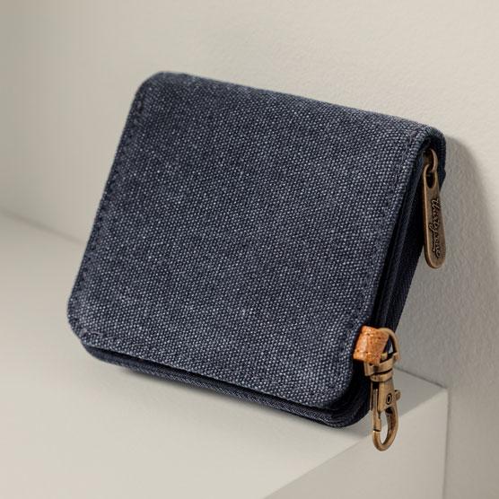 Clip N' Zip Wallet - Vintage Slate