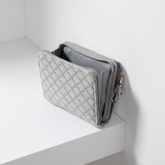 Clip N' Zip Wallet - Diamond Link Weave