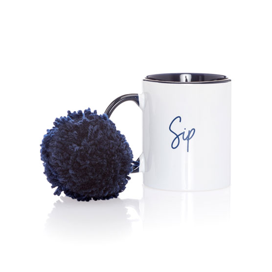Mug w/Pom - Hello Happy Unwind
