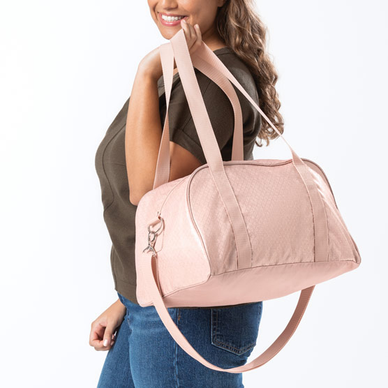 All Packed Mini Duffle - Rose Blush Metallic