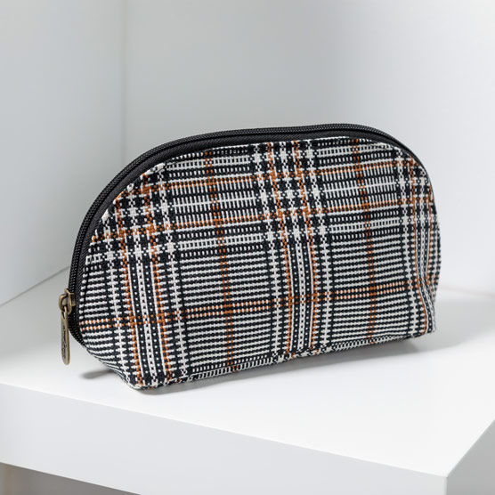 Half-Moon Pouch - Plaid About You Weave