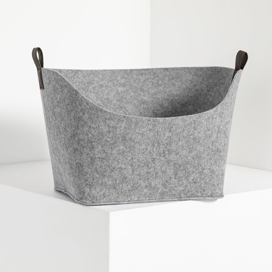Felt Display Bin - Brushed Whisper Grey