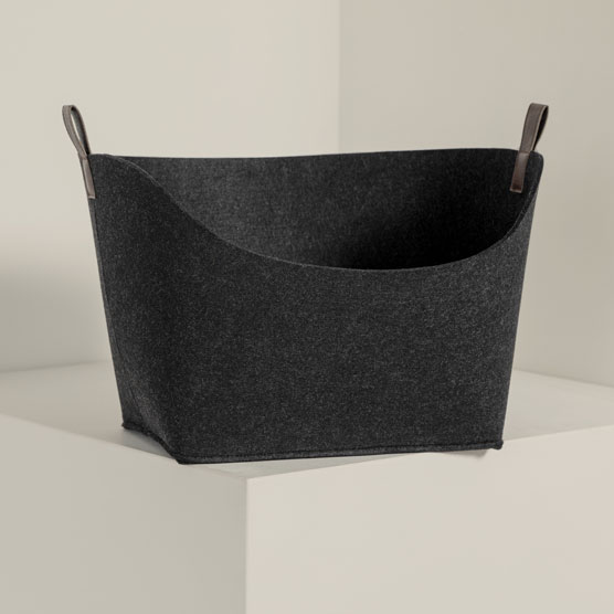 Felt Display Bin - Brushed Graphite