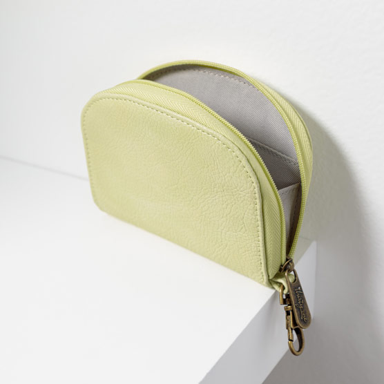 Half-Moon Card Wallet - Lemongrass Distressed Pebble