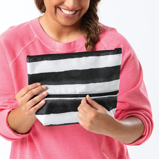 Size Up Expandable Pouch - Watercolor Stripe