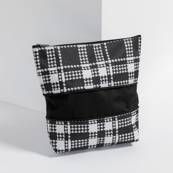 Size Up Expandable Pouch - Houndstooth Plaid