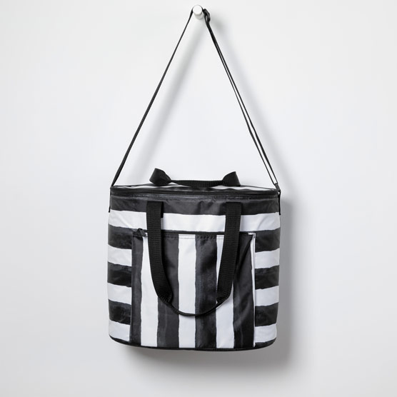 Round About Cooler Tote - Watercolor Stripe