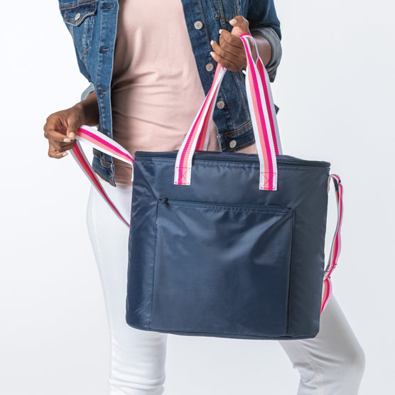 Round About Cooler Tote - Navy Pop