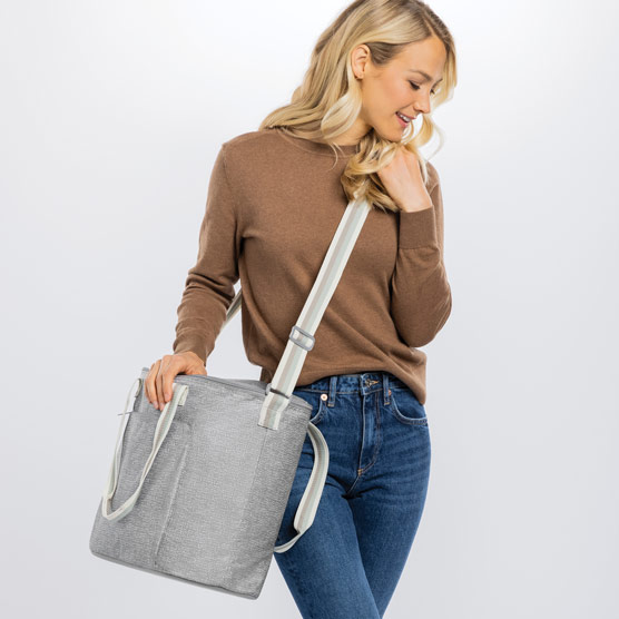 Round About Cooler Tote - Textured Grey