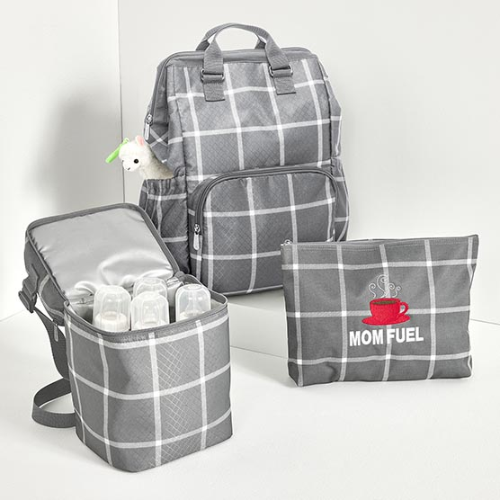 P.S. Multi-tasking Mama Bundle - Windowpane Plaid