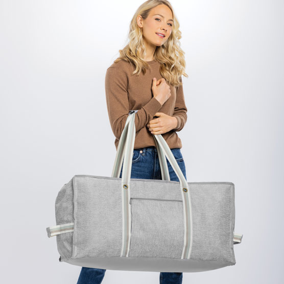 Extra Large Storage Tote - Textured Grey