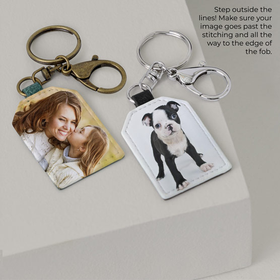2 Tag Photo Key Fobs - Multi