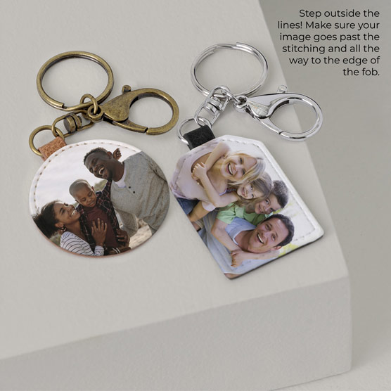1 Round & 1 Tag Photo Key Fob - Multi