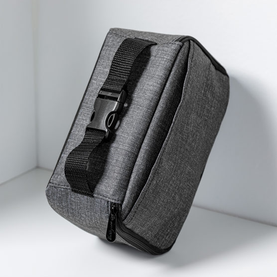 Go-To Snack Box - Charcoal Crosshatch