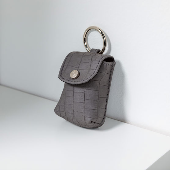 Snap To It Pouch - Grey Crocodile