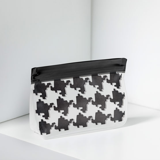 Reusable Snack Bag–Small - Classic Houndstooth