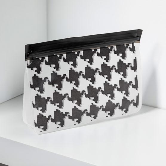 Reusable Snack Bag–Medium - Classic Houndstooth