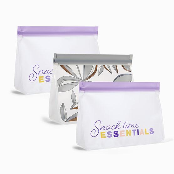 Reusable Snack Bag 3-Pack-Medium - Multi