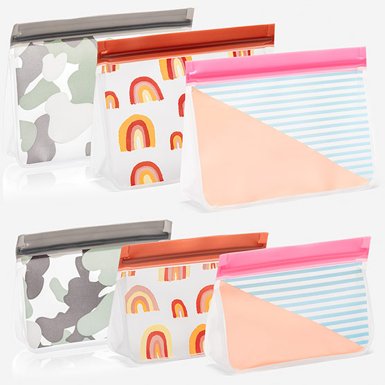 Reusable Snack Bag 6-Pack-Assorted Sizes - Multi