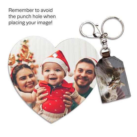 1 Tag Photo Key Fob & 1 Picture Perfect Ornament - Multi