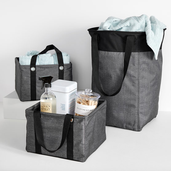 In-The-Home Essentials Bundle - Charcoal Crosshatch