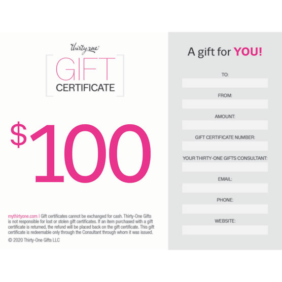 *Gift Certificate--100 dollars